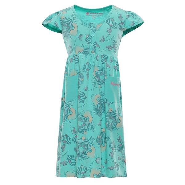 Zelené dívčí šaty Alpine Pro - velikost 92-98