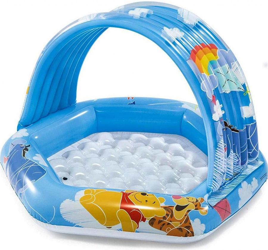 Dětský nafukovací nadzemní šestiúhelníkový bazén INTEX - délka 109 cm, šířka 102 cm a výška 71 cm