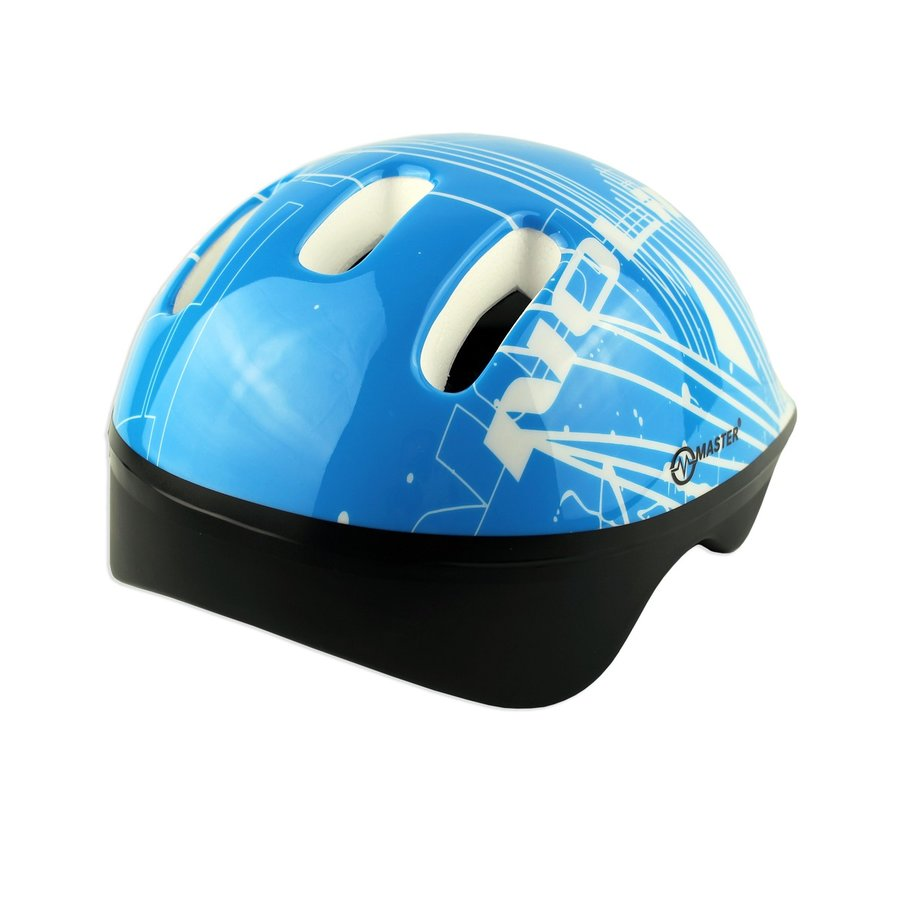 Modrá dětská cyklistická helma Master - velikost 44-48 cm
