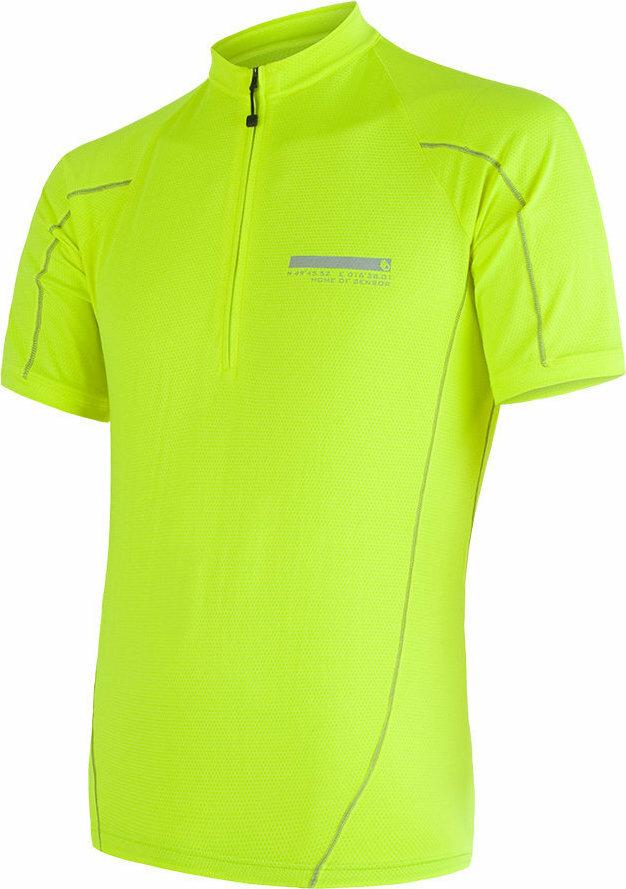 Žlutý pánský cyklistický dres Sensor