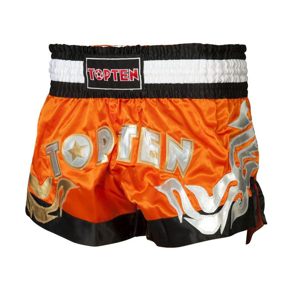 Oranžové thaiboxerské trenky Top Ten - velikost XL