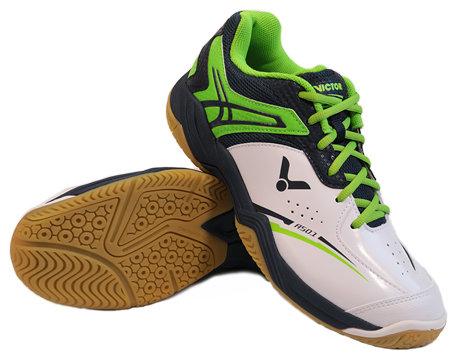 Bílo-zelené pánské sálová obuvi A501, Victor