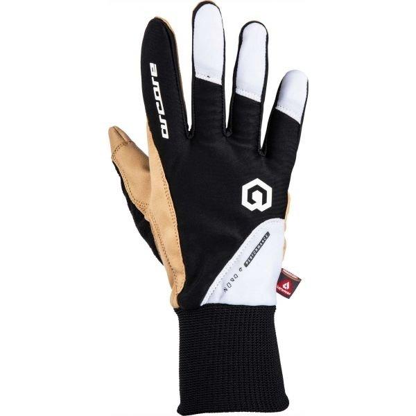 Bílo-černé rukavice na běžky Arcore