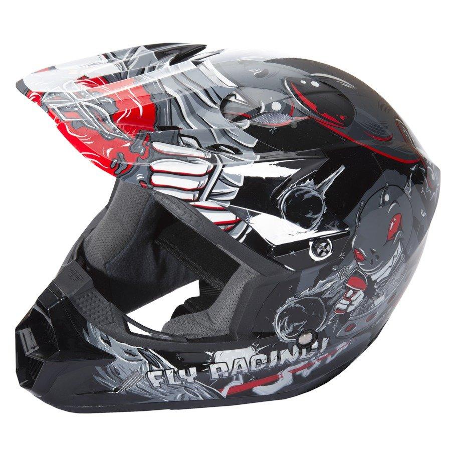 Dětská helma na motorku Kinetic Youth Invasion, Fly Racing - velikost 49-50 cm