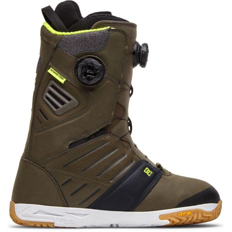 Zelené boty na snowboard DC