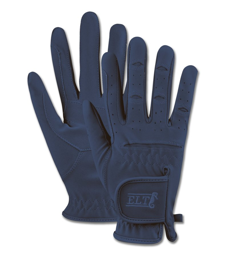 Modré jezdecké rukavice VARIETY, ELT - velikost L