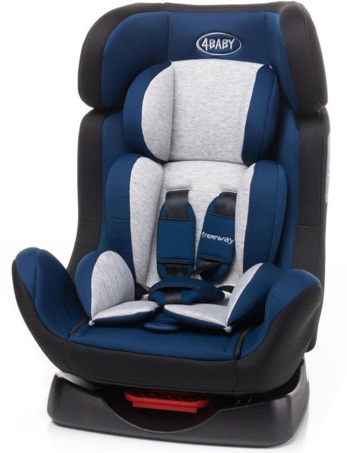Modrá dětská autosedačka Freeway, 4Baby - nosnost 25 kg