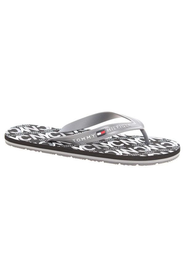 Šedé pánské pantofle Tommy Hilfiger - velikost 44 EU