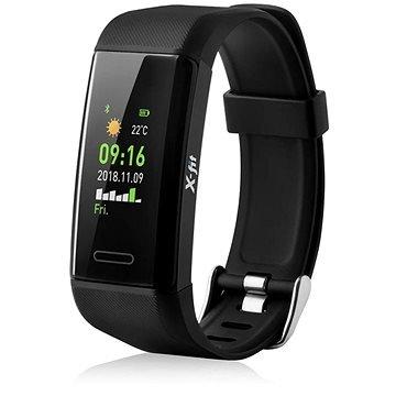 Černý fitness náramek X-fit GPS, Niceboy