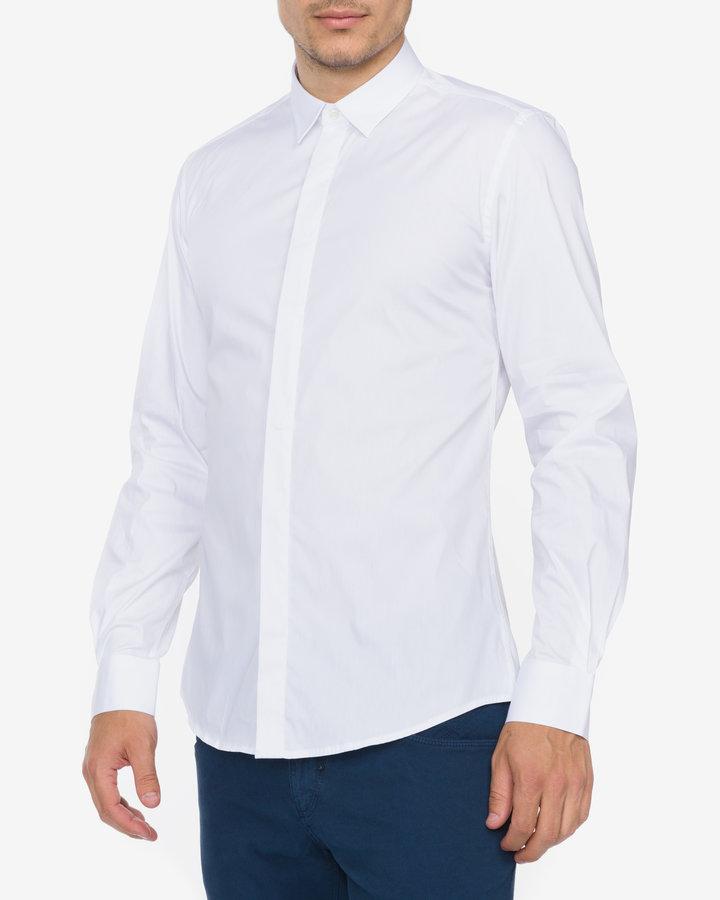 Bílá pánská košile s dlouhým rukávem Antony Morato - velikost XXL