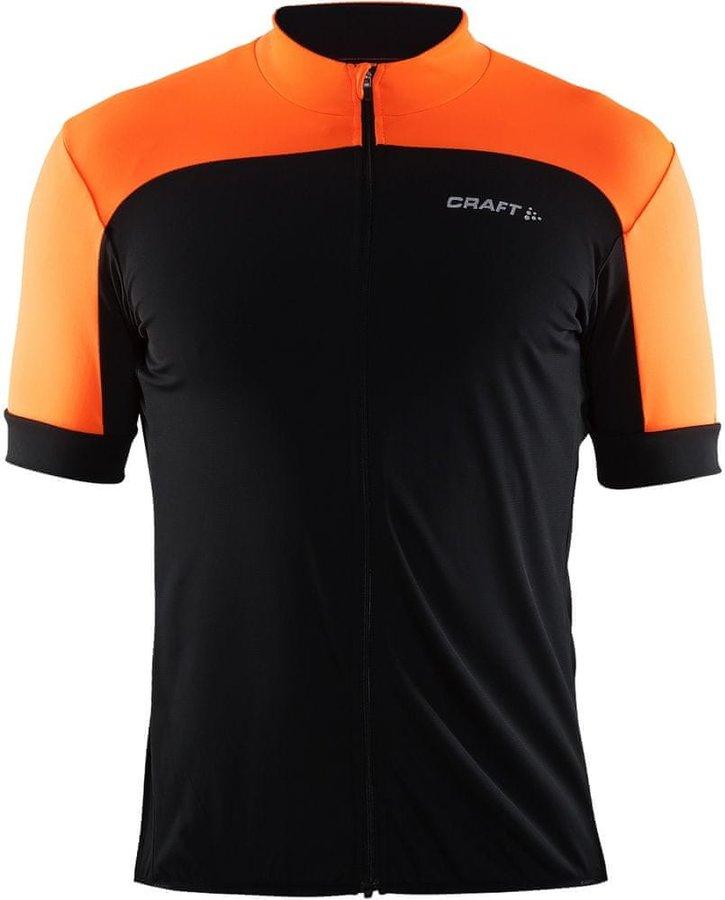Černo-oranžový pánský cyklistický dres Craft - velikost S