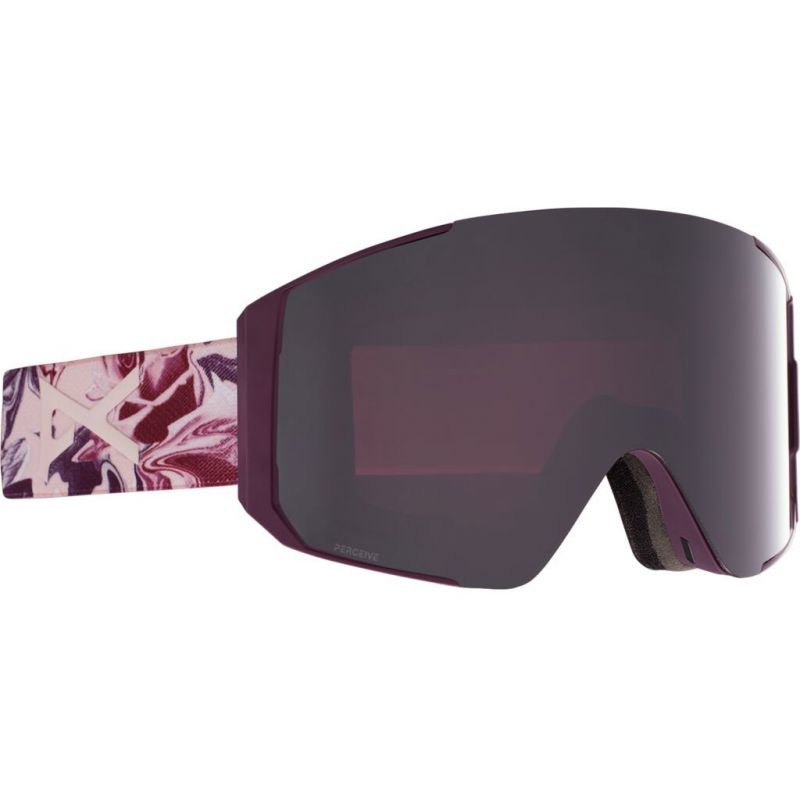 Červené brýle na snowboard Anon