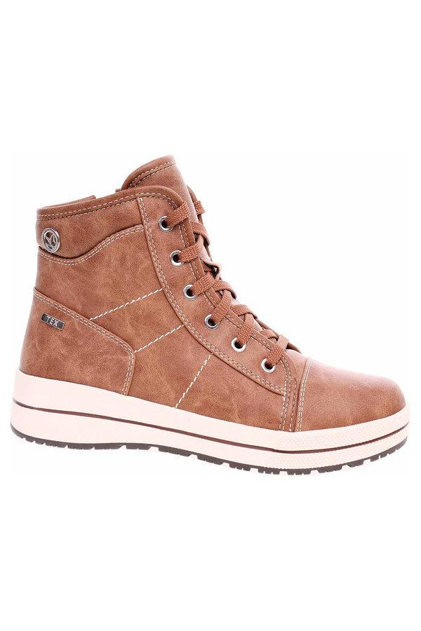 Hnědé dámské kotníkové boty Caprice