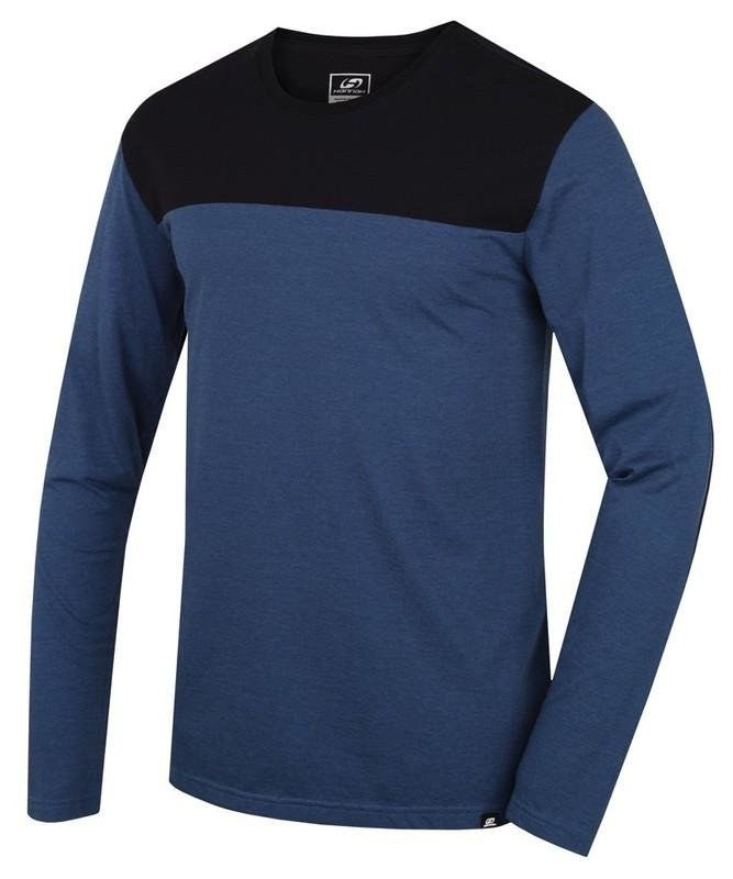 Černo-modré pánské tričko s dlouhým rukávem Hannah