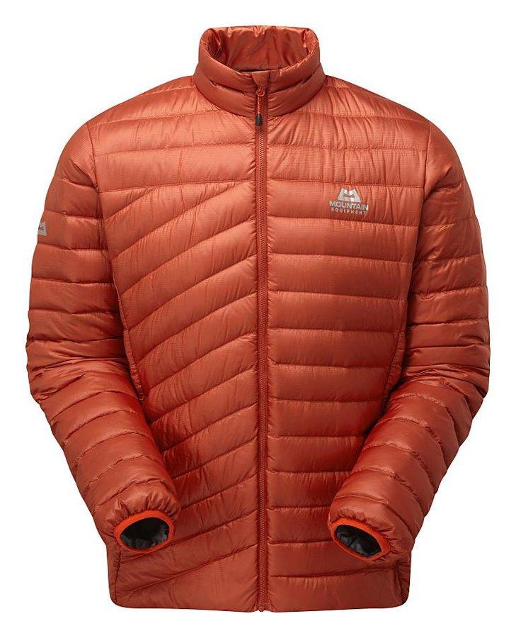 Červeno-oranžová zimní pánská turistická bunda Mountain Equipment