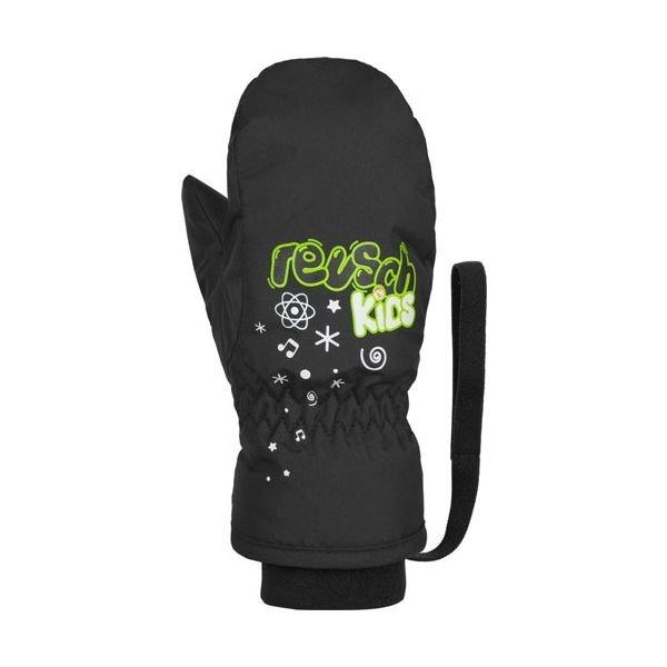 Černé dětské lyžařské rukavice Reusch