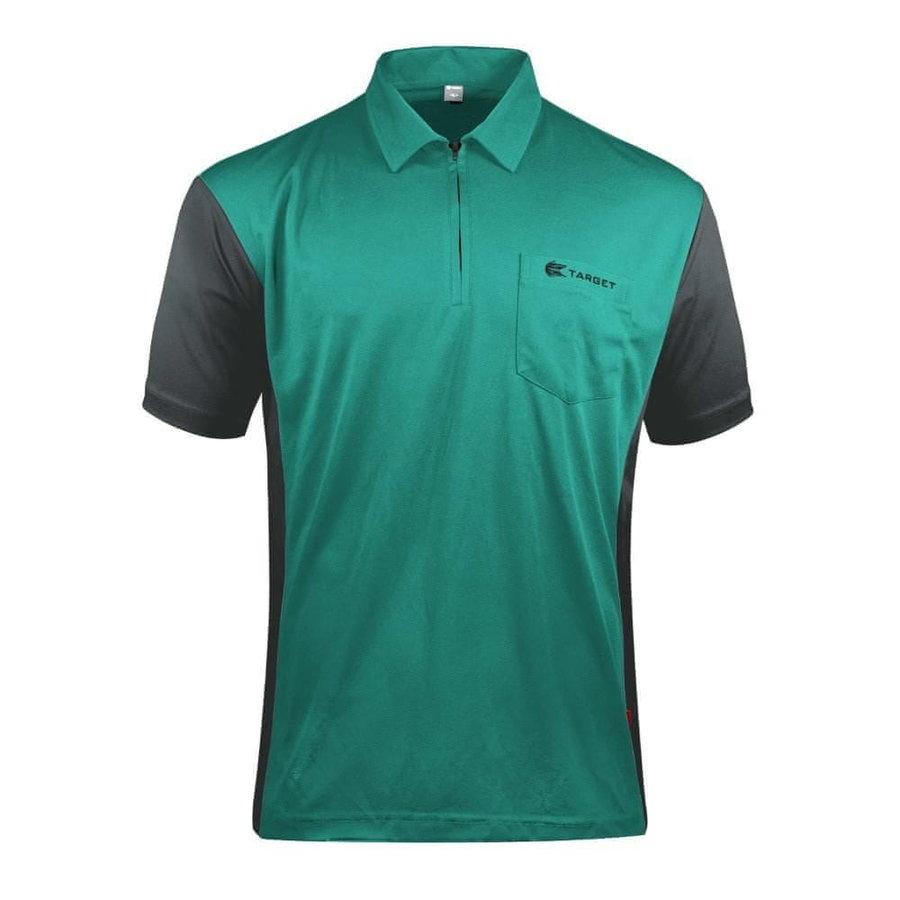 Černo-zelený šipkařský dres Target Darts - velikost XXL