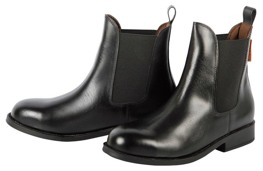 Černá jezdecká perka s kovovou špičkou Safety, Harry's Horse