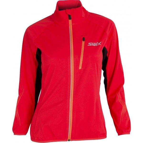 Červená softshellová dámská bunda Swix