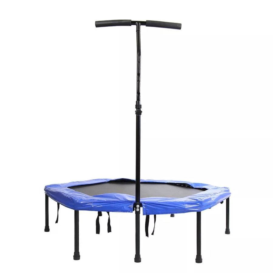 Fitness trampolína - Bezpružinová trampolína s držadlem Spartan Hexagon 136 cm