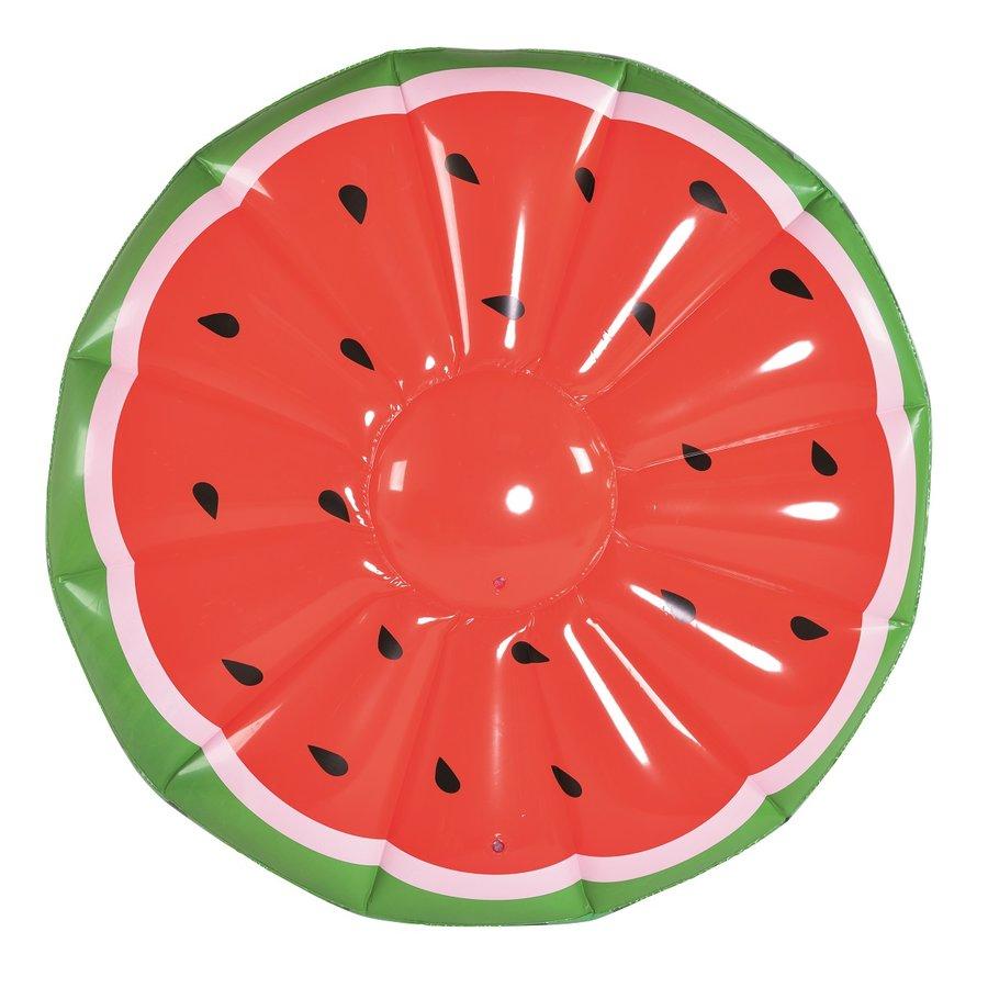 Červené nafukovací lehátko Meloun MASTER POOL - průměr 148 cm