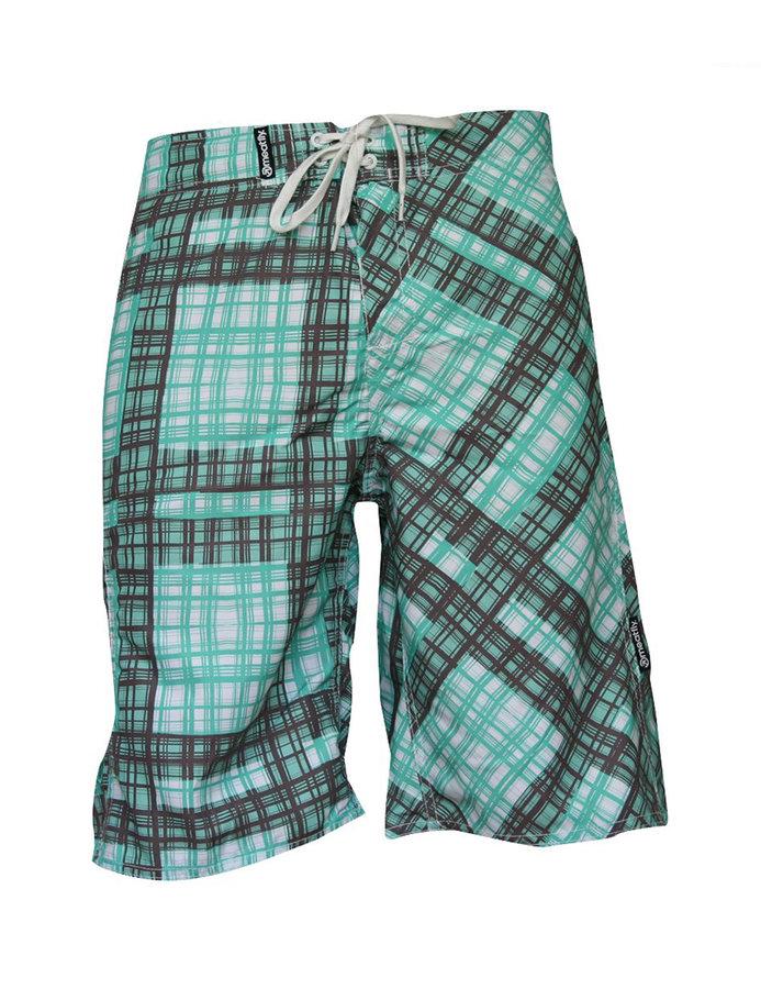 Hnědo-zelené dámské koupací kraťasy Swimshorts, Meatfly