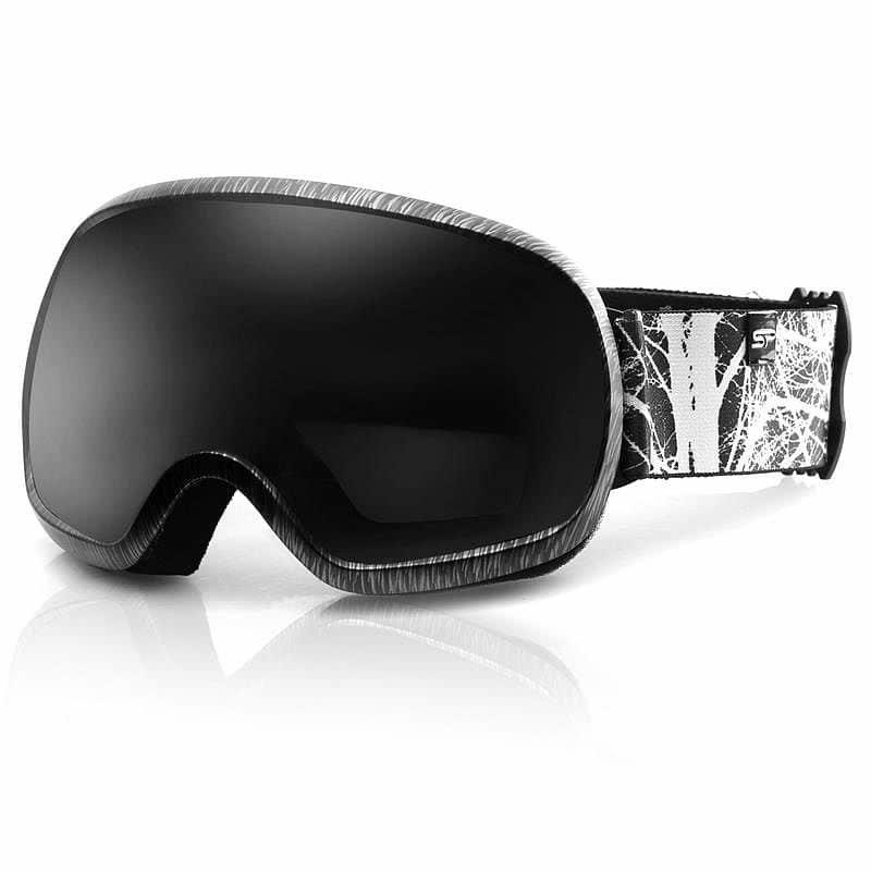 Bílo-černé lyžařské brýle Spokey