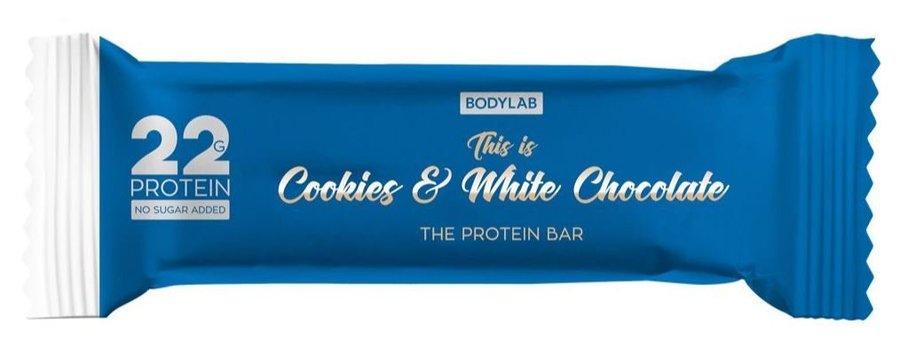 Proteinová tyčinka - Bodylab The Protein Bar 65 g Příchuť cookies/bílá čokoláda