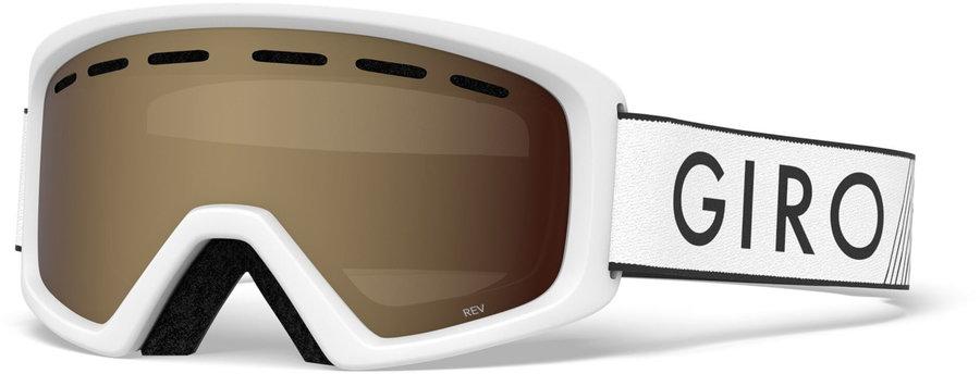 Bílé dětské lyžařské brýle Giro