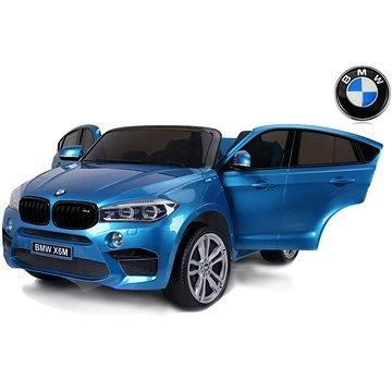 Modré dětské elektrické autíčko BMW X6 M, Beneo