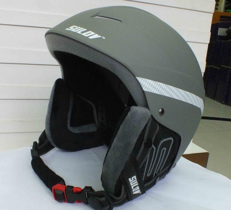 Stříbrná lyžařská helma Sulov - velikost 58-61 cm