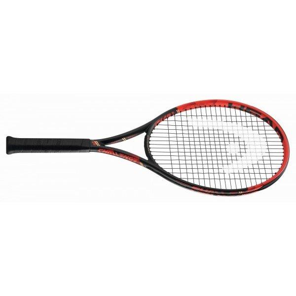 Černo-červená tenisová raketa Head