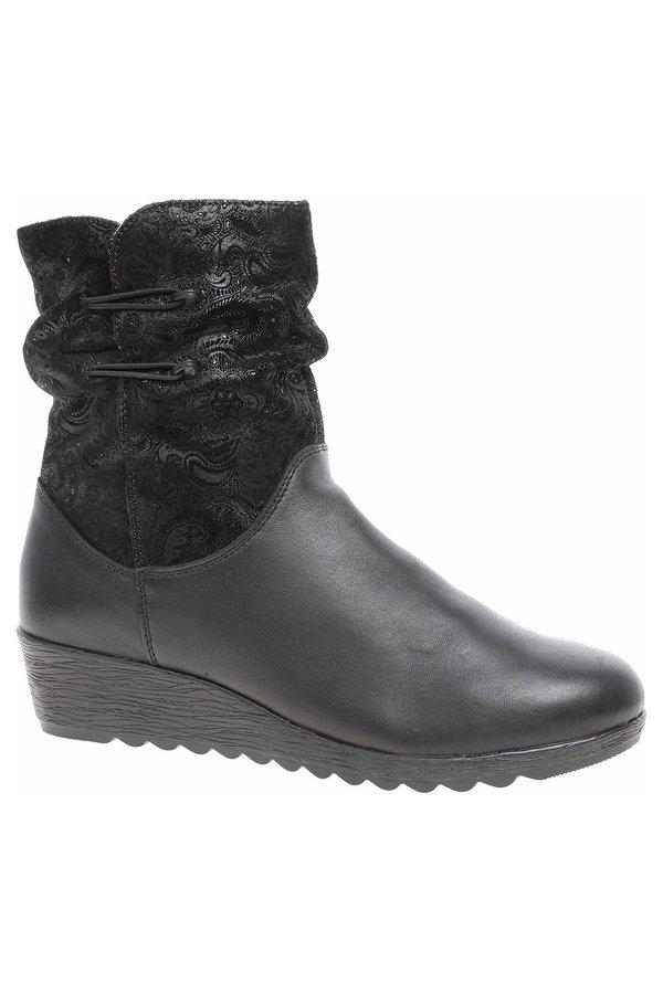 Černé dámské zimní boty Rieker - velikost 39 EU