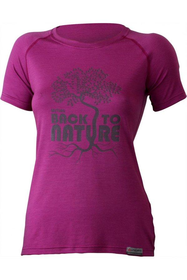 Růžové dámské tričko s krátkým rukávem Lasting - velikost XS