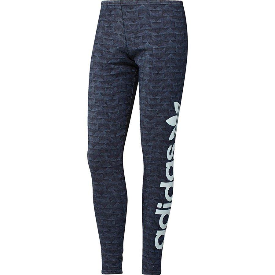 Modré dámské legíny Adidas - velikost 34
