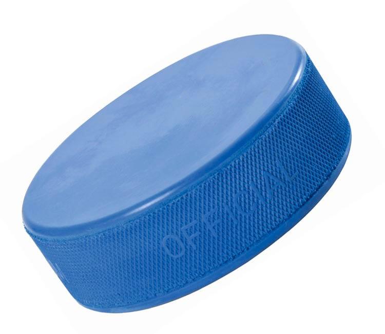 Modrý hokejový puk Hejduk