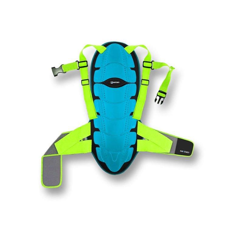 Modré chrániče na snowboard na záda Hatchey - velikost XL
