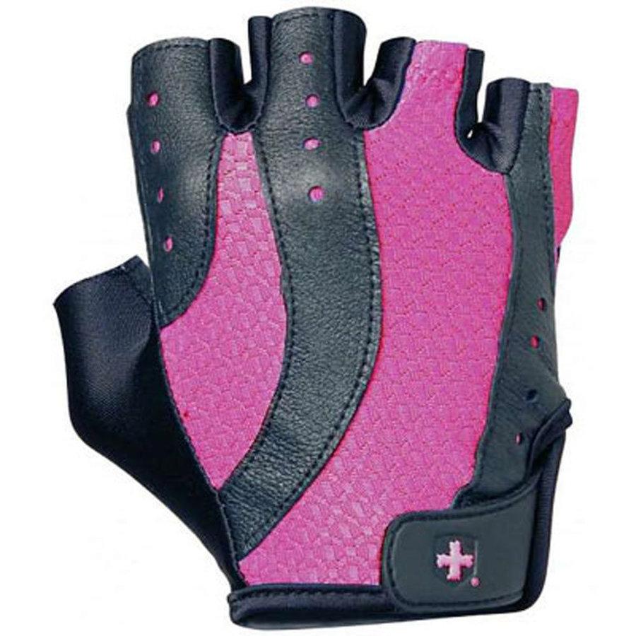 Černo-růžové dámské fitness rukavice Harbinger