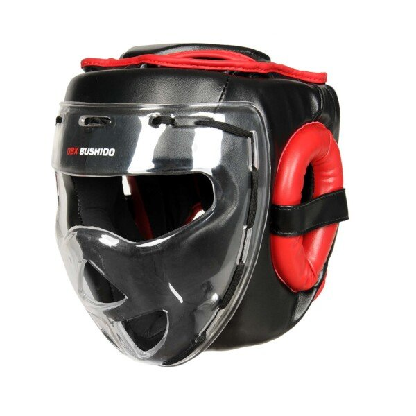 Černo-červená boxerská přilba Bushido - velikost M