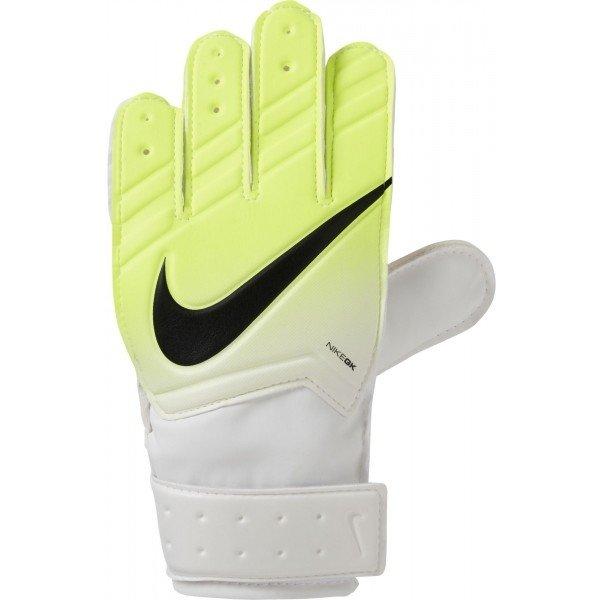 Bílo-žluté dětské brankářské fotbalové rukavice Nike