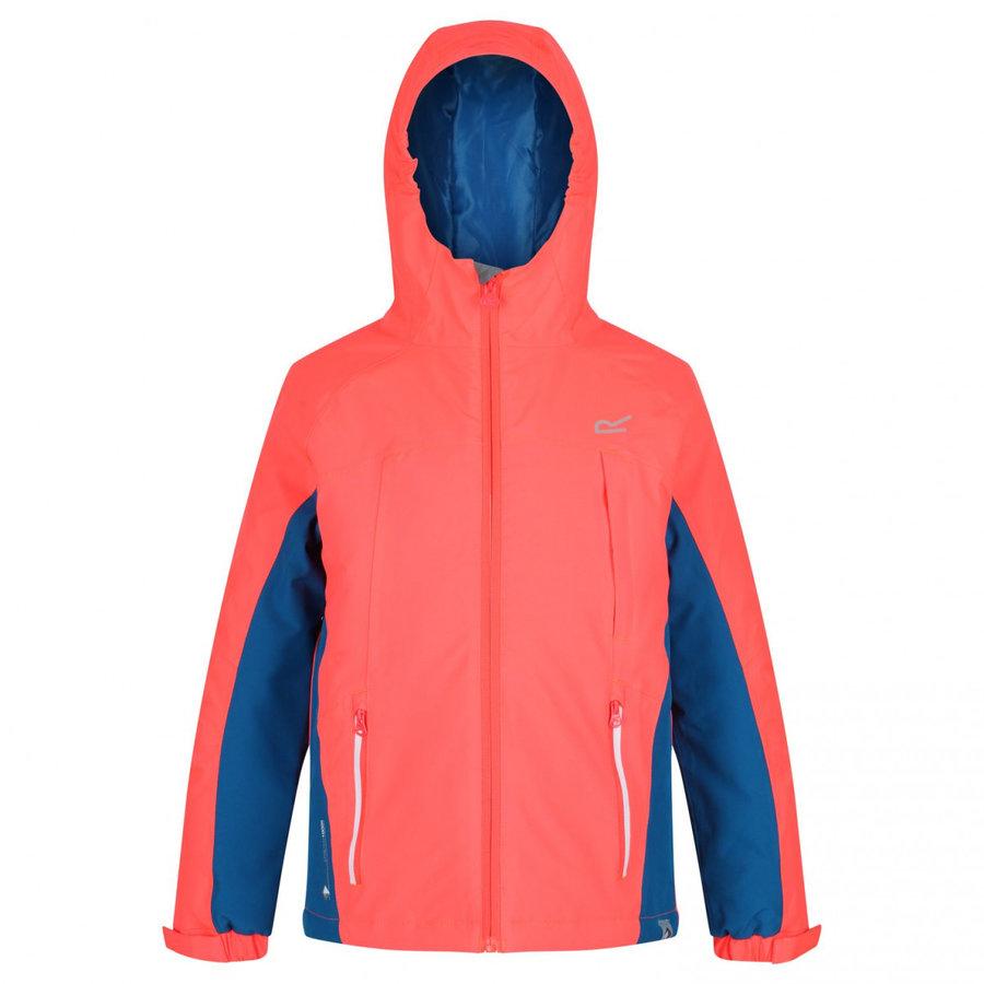Modro-růžová zimní dívčí bunda s kapucí Regatta