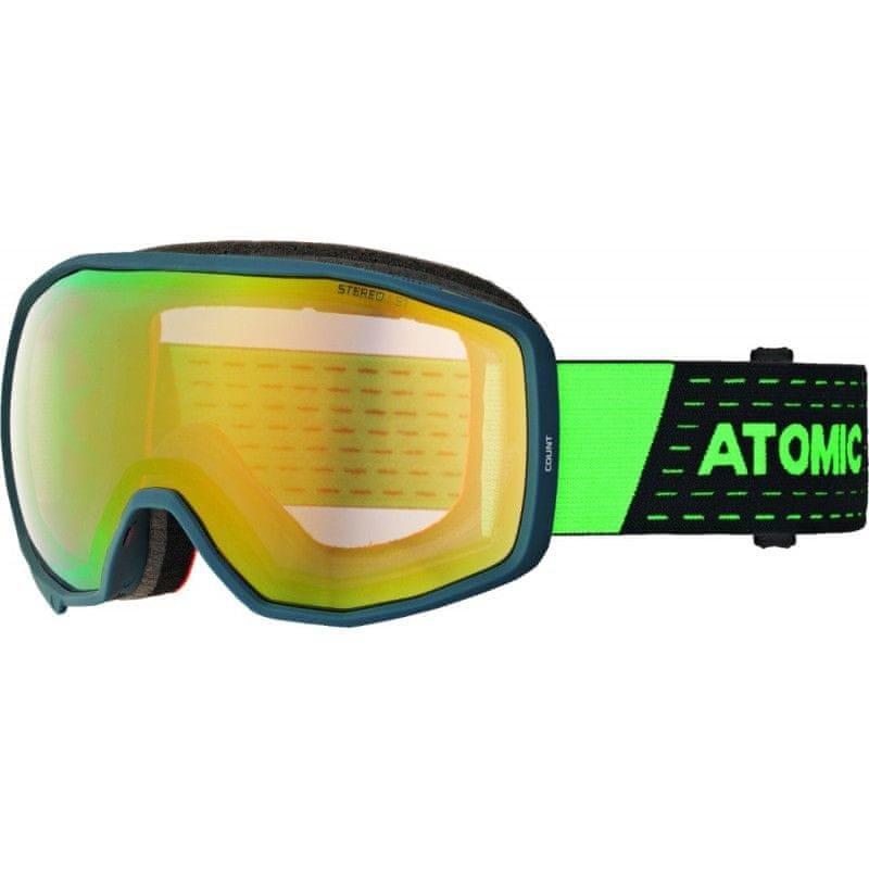 Lyžařské brýle - Atomic COUNT STEREO Dark Blue/Green