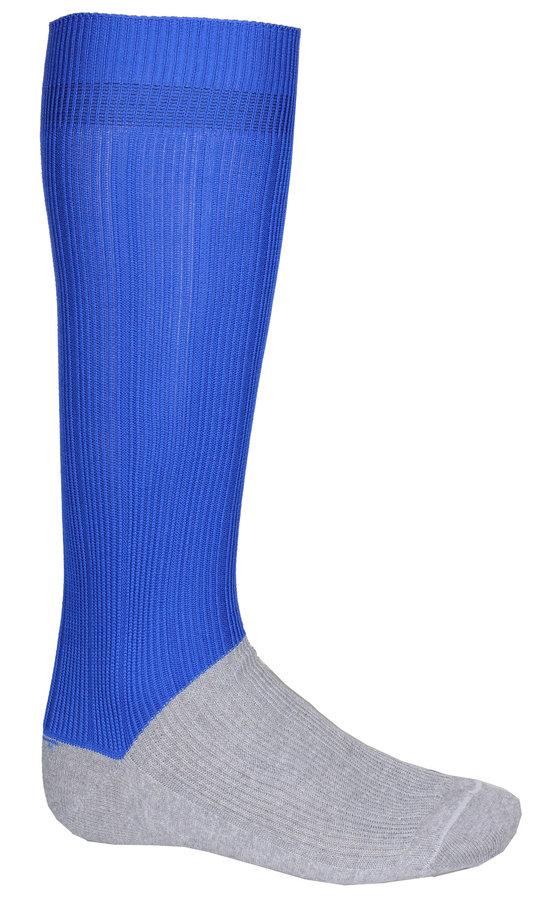 Modré fotbalové štulpny Classic, Merco - velikost senior