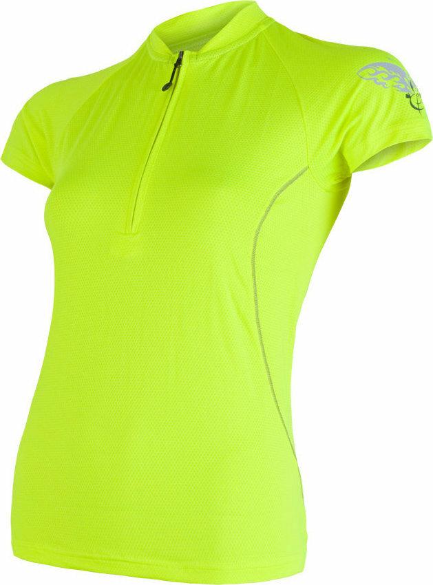 Žlutý dámský cyklistický dres Sensor