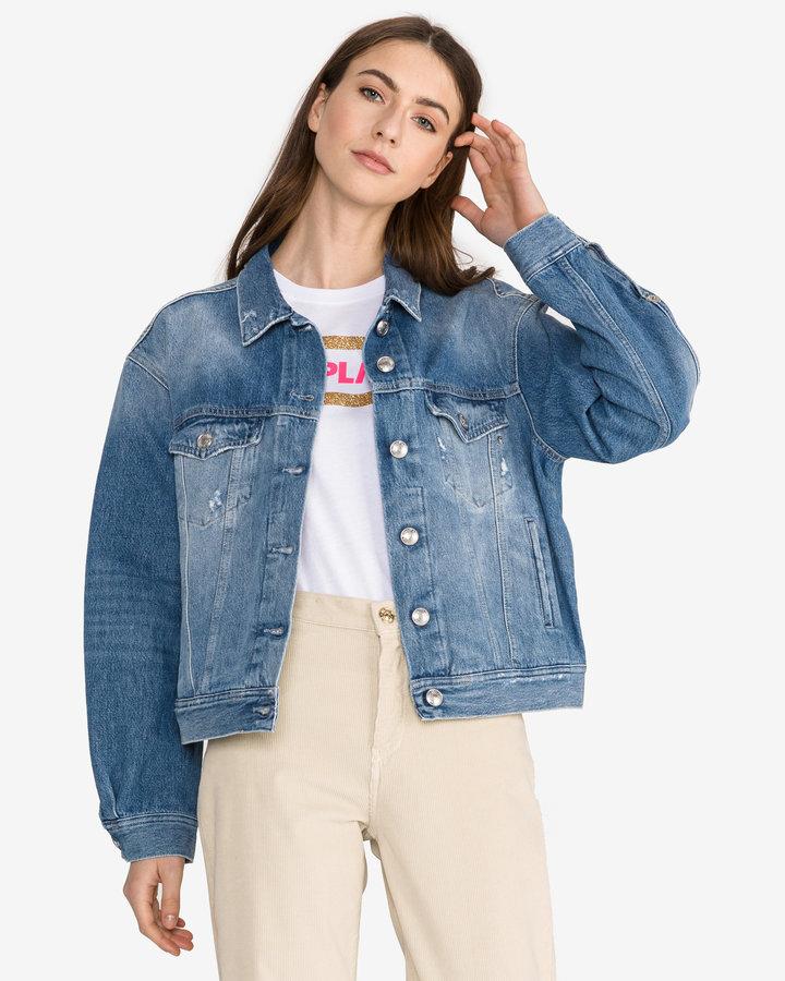 Modrá dámská bunda Replay - velikost M