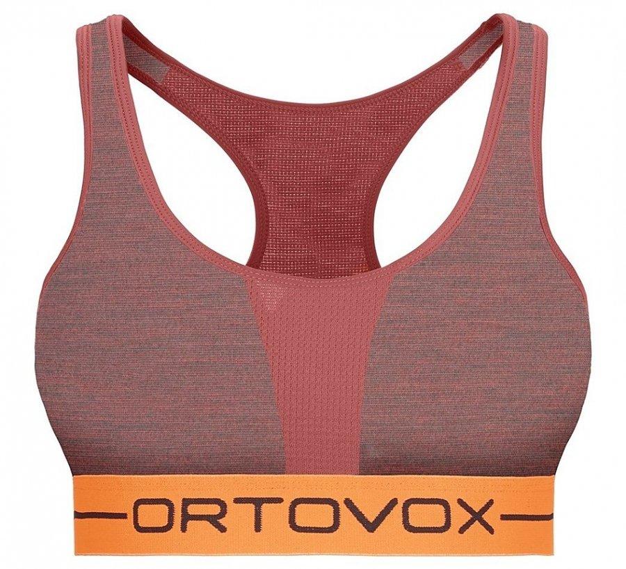Červená sportovní dámská podprsenka Ortovox