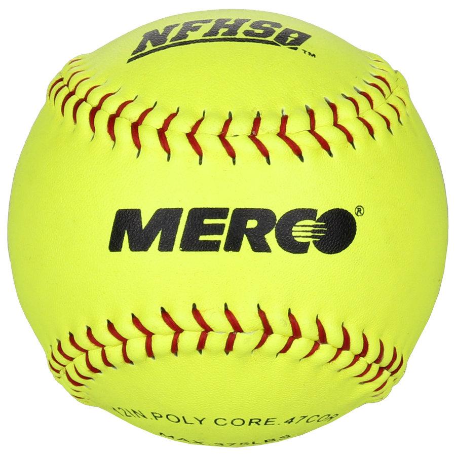 Žlutý softballový míček Merco