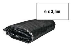 Černá solární plachta na bazén - průměr 500 cm, délka 600 cm a šířka 350 cm