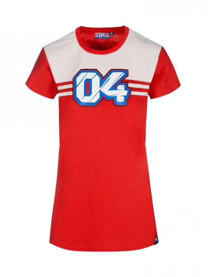 Bílo-červené dámské motorkářské tričko s krátkým rukávem Dovizioso