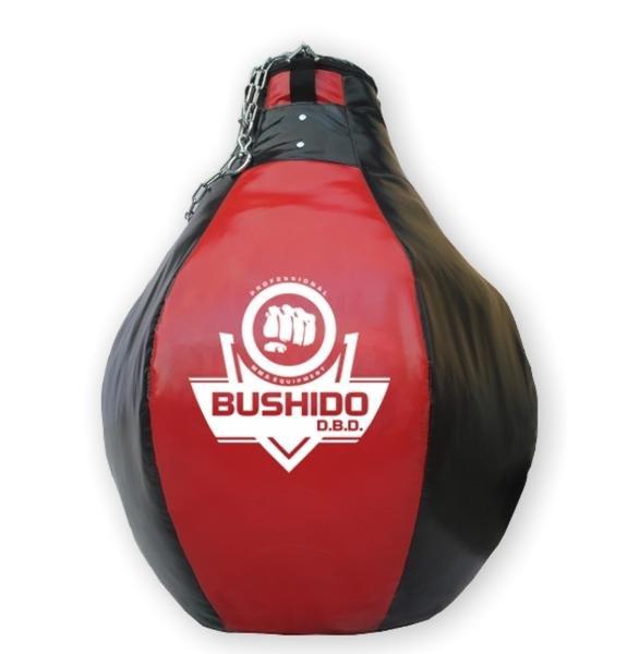 Černo-červená závěsná boxovací hruška BUSHIDO - 30 kg